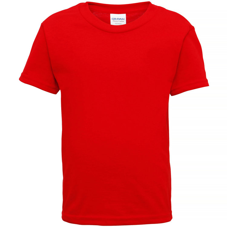 Heavy cotton toddler t-shirt Red