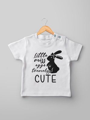 Little miss eggstremely cute kids t-shirt