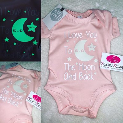 Love you to the moon and back glow in the dark rompertje