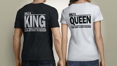 Koppel King Focused Queen Attracted tshirts