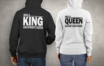 Koppel King attract & Queen focused hoodies
