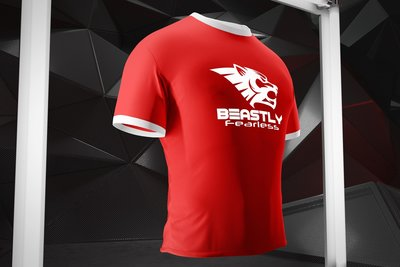 Beastly Fearless Tshirt Red