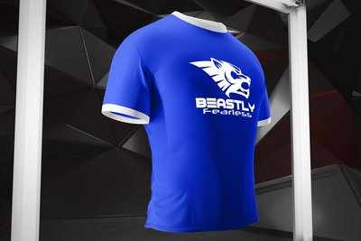 Beastly Fearless Tshirt Royal Blue