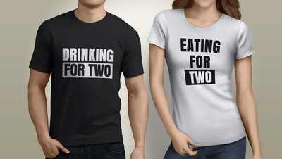 Eating & Drinking For Two tshirts