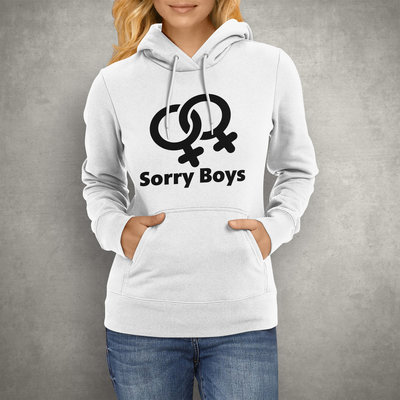 Sorry Boys Lesbische Hoodie