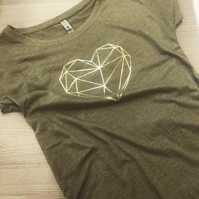Golden heart t-shirt