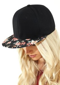 Graphic Peak Snapback Faded Floral