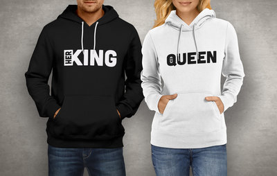 Koppel King & Queen strak hoodies
